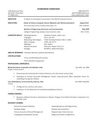 it intern resume examples of student resumes college student
