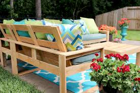 Free Plans For Garden Furniture by Free Diy Outdoor Sofa Plans Gray House Studio