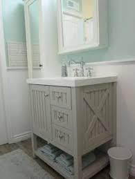 Coastal Bathroom Vanity The Vanity Paint Color Is Sherwin Williams Sea Salt Wall Paint