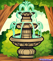 how to draw a fountain water fountain step by step stuff pop