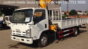 5ton isuzu truck mounted hydraulic crane youtube