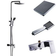 Outdoor Exposed Shower Faucet Exposed Pipe Shower System Amazon Com