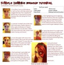 How To Apply Halloween Makeup by Easy Zombie Makeup Tutorial By Mitternachto On Deviantart