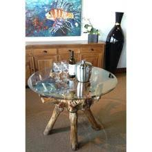 48 round teak table top teak root dining table including a round 48 inch glass top by chic
