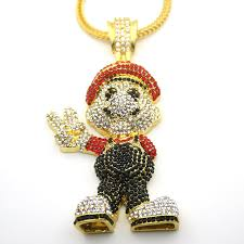 hip hop necklace images Very large size 36inch franco chain cartoon game pendant hip hop jpg