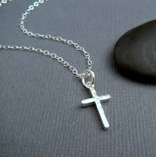 christian necklaces hammered sterling silver cross necklace small simple