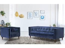 canape capitonn gris canapé et fauteuil en velours vintage bleu ou gris margaux