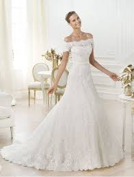 Wedding Dress Lace Sleeves Off The Shoulder Wedding Dress By Pronovias 10 Romantic Off The
