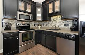 Kitchen With Black Cabinets Small Kitchens With Dark Cabinets Design Ideas Designing Idea