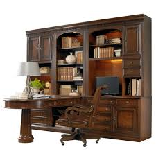 Computer Wall Desk Office Wall Unit With Peninsula Desk Computer Credenza And Wall
