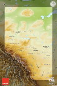 Canada Physical Map Physical Map Of Alberta Darken