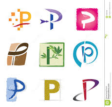 set of icons and logo elements letter p stock photo image 20963430