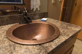 how to replace a copper bathroom sink the bell drop in copper