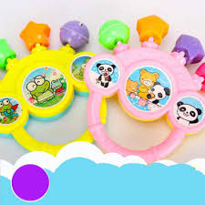 baby lovely cute rattles hand bell toy cartoon colorful develop