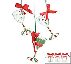 wine glass christmas ornaments blown wine glass christmas tree ornaments set of