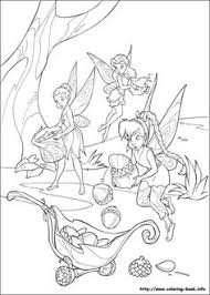 tinkerbell coloring picture color pages disney