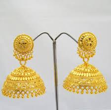 big jhumka gold earrings 60 awesome bridal gold jhumka earrings wedding idea