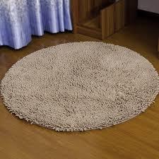 Soft Bathroom Rugs High Water Absorbent Antisslip Bedroom Carpets Bathroom Mat Dia 80