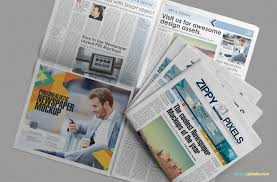 free beautiful newspaper ad psd mockup zippypixels