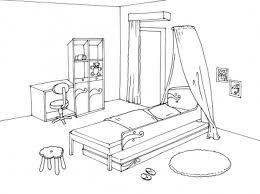 coloriage de chambre de fille dessin d une chambre gascity for