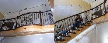 Iron Stair Banister Ornamental Wrought Iron Staircase Railing Orange County Ca