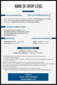 entry level resume template word computer science resume template