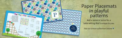 personalized disposable paper placemats