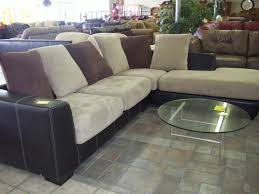 Decorate Living Room Black Leather Furniture Living Room Black Leather With Cream Cuhsion Microfiber Sectional