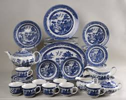 Johnson Brothers Dinnerware Dinnerware Johnson Willow Blue By Johnson Brothers 57 Set At Replacements Ltd