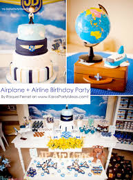 1st birthday party ideas boy kara s party ideas airplane airline pilot themed boy 1st birthday