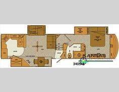 Montana Fifth Wheel Floor Plans 5th Wheel Floor Plans With Rear Kitchen Google Search Rv