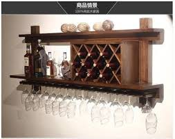 cabinet mount wine cooler wall mounted wood wine racks wine bar european modern glass rack