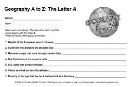 world geography worksheet worksheets