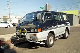 van mitsubishi delica old parked cars 1993 mitsubishi delica chamonix
