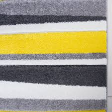 Striped Runner Rug Modern Yellow U0026 Grey Striped Hall Runner Rug Rio Kukoon