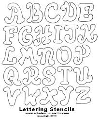 printable letters cut out free printable letter stencils great for school projects to home