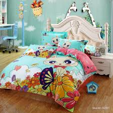 Kid Bed Set 100 Cotton Cat Print Bedding Set King Size With