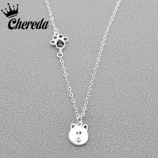 pendant necklace long chain images Bear animal pendant necklace claws ctue women jewelry for lady jpg