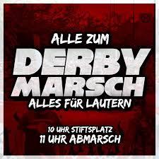 K He Online Planen Und Kaufen Fanmarsch Zum Derby Gegen Karlsruhe Der Betze Brennt