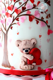 teddy valentines day a s day cake tutorial mcgreevy cakes