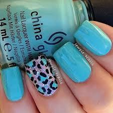 blue leopard nails u2026 pinteres u2026