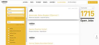 adidas job application apply online