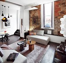 10 living room design with brick wall makes the room feel warm