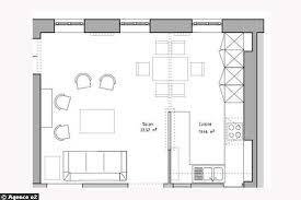 plan cuisine ouverte sur salon cuisine en image
