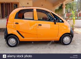 tata nano small car also called one lakh car stock photo