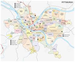 Neighborhood Map Pittsburgh Road And Neighborhood Map Royalty Free Cliparts