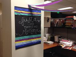 office decor a cubicle fiesta for the love of felt