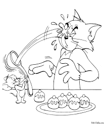 tom and jerry coloring pages download and print