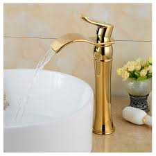Brass Sink Faucet Fashionable Gold Plated Brass Bathroom Basin Faucet Gold