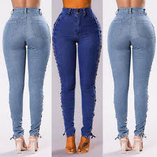 High Waisted Colored Jeans High Waisted Trousers Pants Ebay